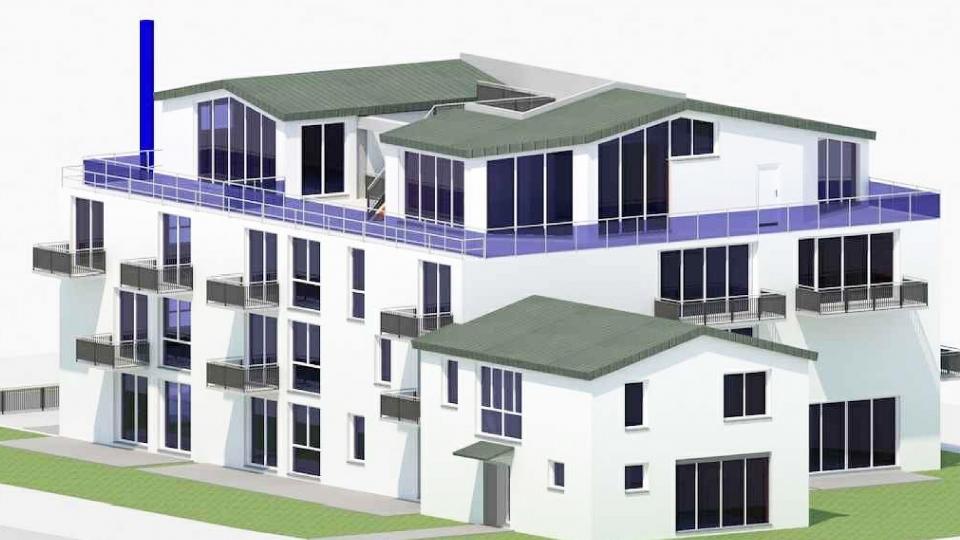 Neubau einer zentrumsnahen Wohnanlage in der Stadt Auerbach/Oberpfalz