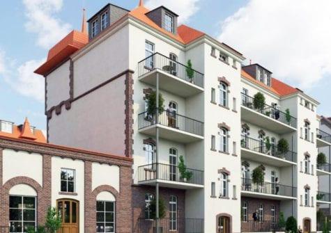 Denkmalobjekt (Häuser 7a und b) im Stadtteil Paunsdorf im Osten von Leipzig