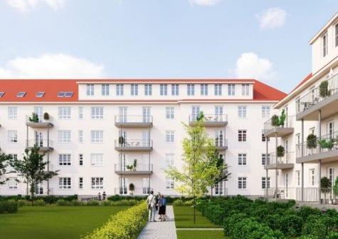 "Denkmalobjekt ""Stollberghöfe – BA I"" in Erfurt im Stadtteil Ilversgehofen"